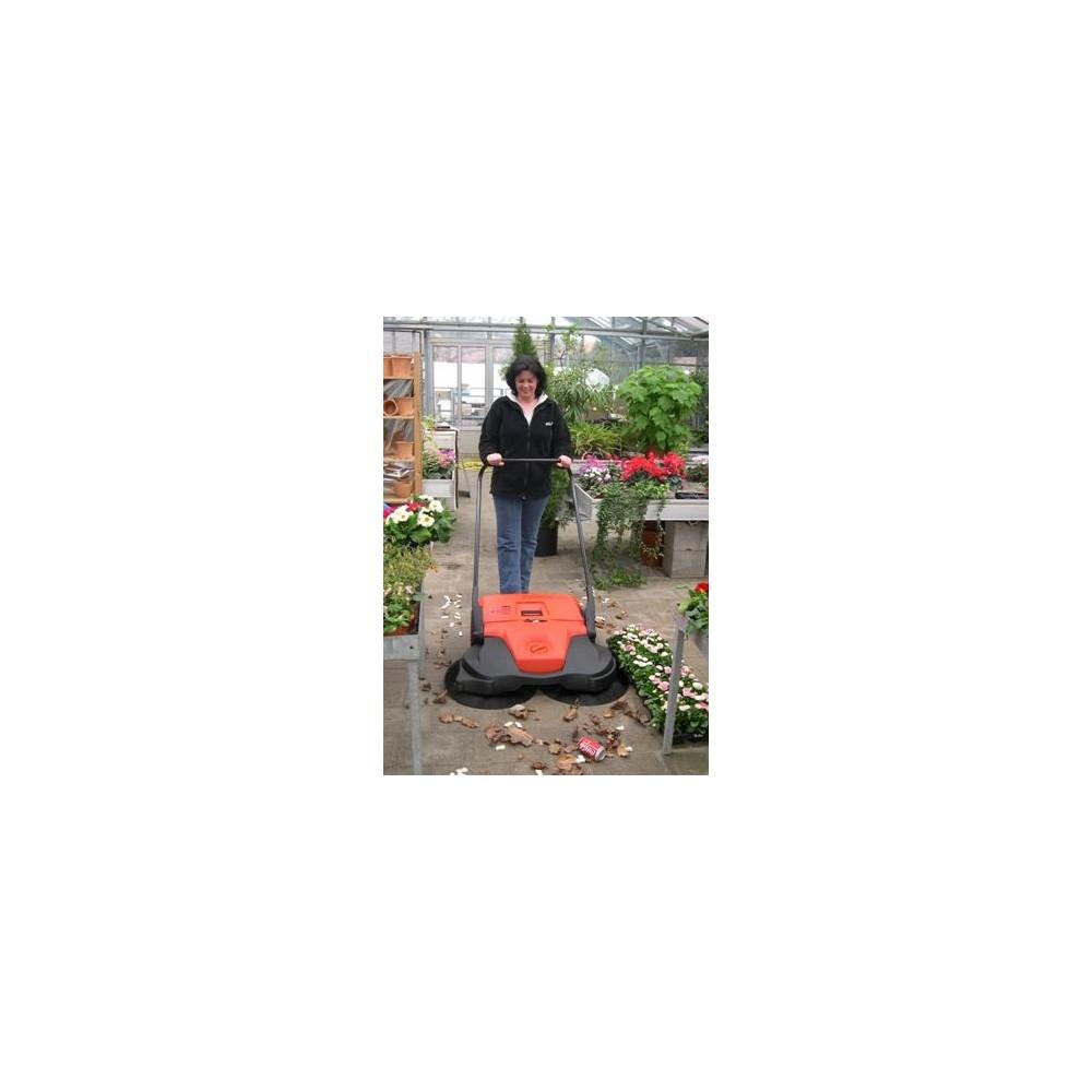 Balayeuse motoris e et manuelle bac de 50 litres for Balayeuse automatique piscine
