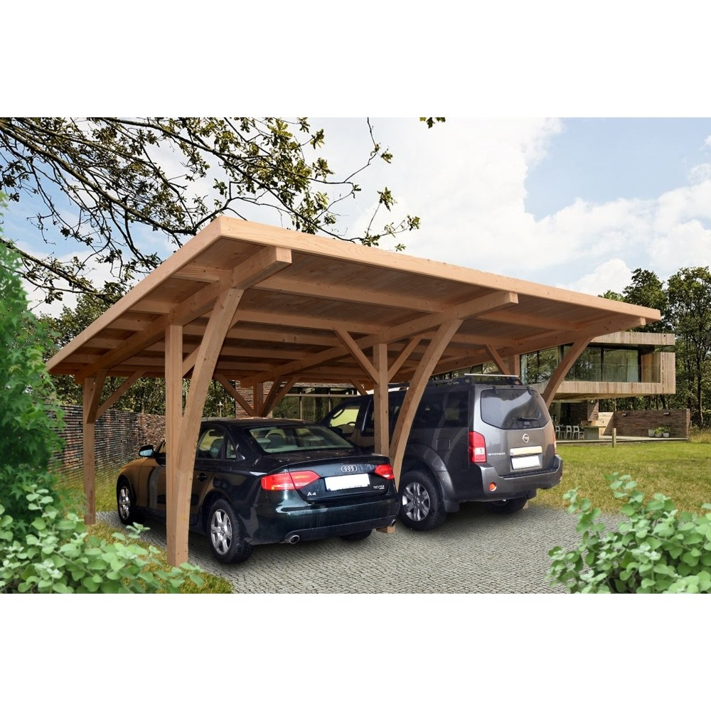 carport double grancey 5 40 m x 6 00 m. Black Bedroom Furniture Sets. Home Design Ideas