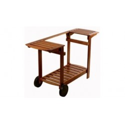 Chariot bois pour plancha 50 cm CB50