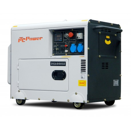 Groupe électrogène diesel 5500W insonorisé DG6000SE