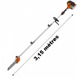 Elagueuse thermique sur perche 52 cm3 3cv longueur 3.15 mètres
