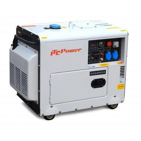 Groupe électrogène diesel insonorisé 6kW DG7500SE avec ATS