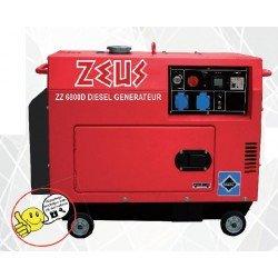 Zeus - Groupe électrogène silencieux démarrage électrique moteur Diesel 5000W - ZZ6800D