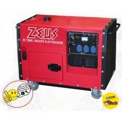 Zeus - Groupe électrogène silencieux démarrage électrique moteur Diesel 6000W - ZZ7000S