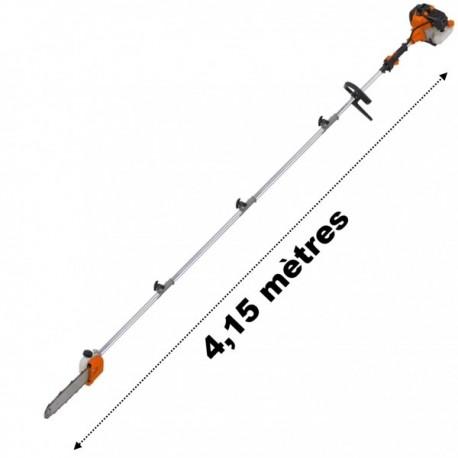 Elagueuse thermique sur perche 52cm3 3 CV longueur 4,15 mètres