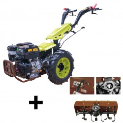 Motoculteur Bulldog PRO 8 CV diesel avec rotovator 65 cm et démarrage électrique