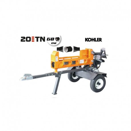 Fendeur de bûches thermique 20 tonnes - moteur KOHLER 6,5 CV