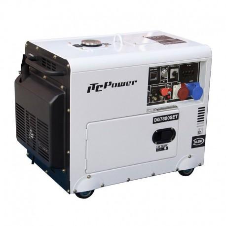 Groupe électrogène diesel Diesel insonorisé 7.0Kva - 6.5kw ''Full Power'' 400V Et 230v AVR