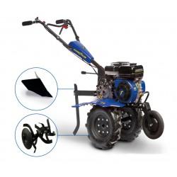 Motoculteur thermique 212 cc - 7 CV avec roues, fraises et soc