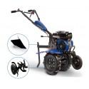 Motoculteur thermique 212 cc - 7 CV GOODYEAR avec roues, fraises et charrue