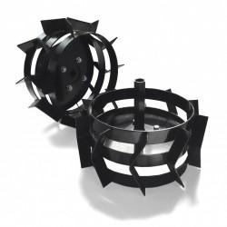 Paire de roues cage en fer pour motoculteur Bulldog