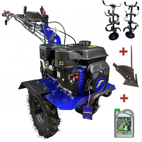Motoculteur professionnel 212 cc - 7 CV GOODYEAR avec roues et fraises 100 cm