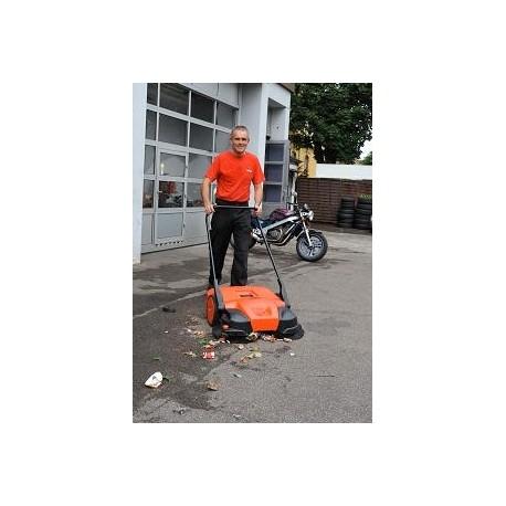 Balayeuse motorisée et manuelle bac de 50 Litres